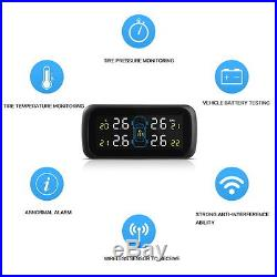 Wireless 4 Sensor Car Auto LCD Display TPMS Tire Tyre Pressure Monitoring System