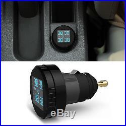 Wireless Car TPMS Tire Tyre Pressure Monitor System + 4 Sensor Cigarette Lighter