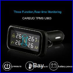 Wireless LCD 4 External Sensor Tire Tyre Pressure Monitoring System for Car TPMS