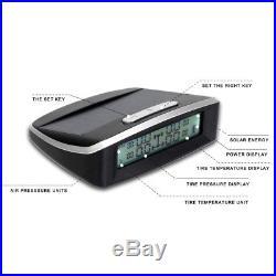 Wireless Solar Power TPMS Tire Pressure Monitoring System 4 External Sensors USB