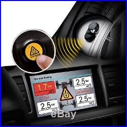 Wireless TPMS Tire Tyre Pressure Monitor System Built-in Sensor for DVD Player