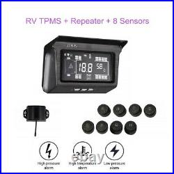 WonVon Solar TPMS Tyre Pressure Monitoring System 8 Sensor with Repeater For RV